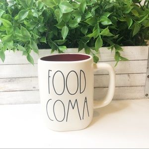 New Rae Dunn FOOD COMA Ceramic Cup